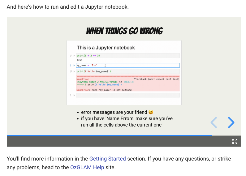 How to edit a Jupyter Notebook on GLAM Benchwork