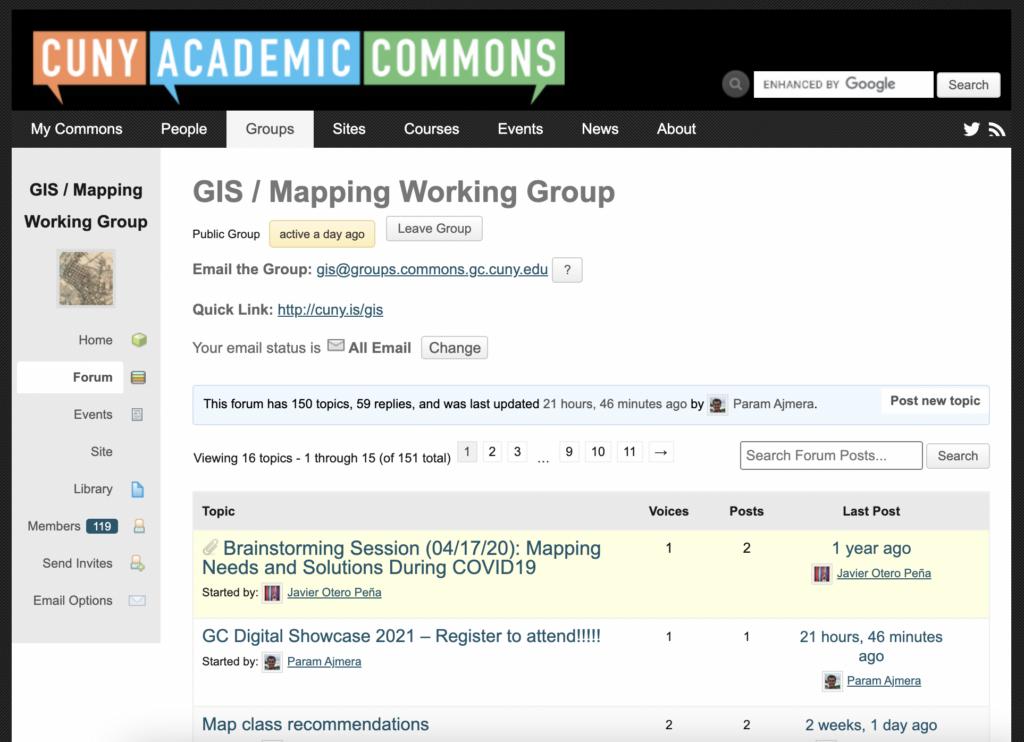 GIS Working Group